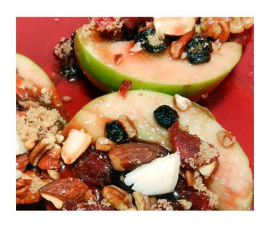 Michigan Fruit and Nut Baked Apples